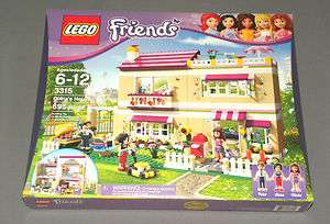 NEW Girls LEGO Friends Set 3315 Olivias House w Mom Anna & Dad Peter