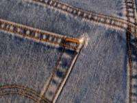 MENS SZ 40X32 LEVIS 505 REGULAR FIT BOOT CUT JEANS 653