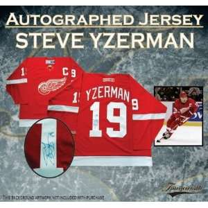 Steve Yzerman Autographed/Hand Signed Jersey Detroit Red Wings Dark