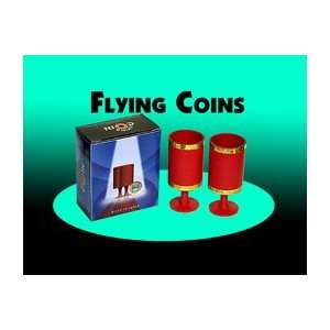 Flying Coins Money Magic Tricks Invisably Appear Stage
