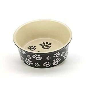 Top Quality Ceramic Paw Print Wide Rim Dog Dish 5