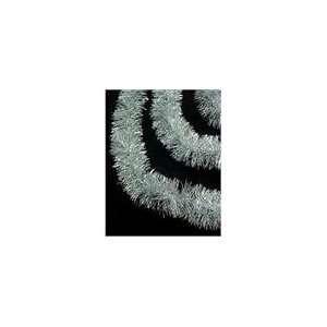 Sassy Silver Decorative Christmas Tinsel Garland   Un