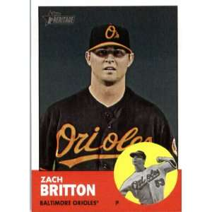 2012 Topps Heritage 19 Zach Britton   Baltimore Orioles (ENCASED MLB