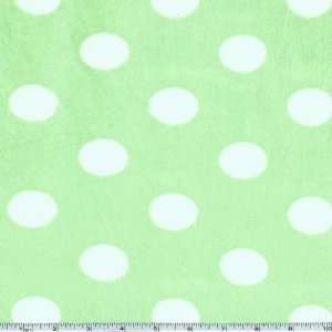 60 Wide Minky Jumbo Dots Mint Fabric By The Yard Arts