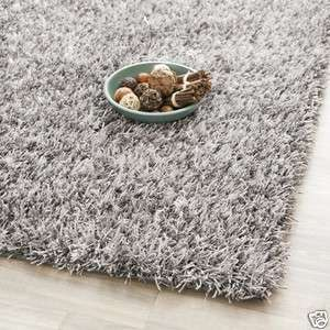 Medley Textured Grey Shag Area Carpet Rug 7 Square