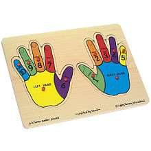 Melissa & Doug Wooden Hands Counting Peg Puzzle   12 Piece   Melissa