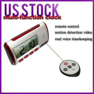 SPY MOTION DETECTOR ALARM CLOCK CAMCORDER CAMERA DVR HD
