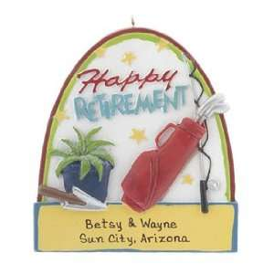 Personalized Happy Retirement Christmas Ornament