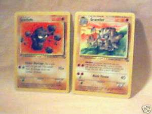 Pokemon Trading Card Game ~ Stage 1 Cards Graveler