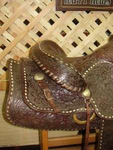 15.5 used Big Horn King Western Saddle Horse Tack VERY NICE