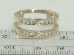 14K Yellow Gold Diamond Ring Guard Enhancer Wrap
