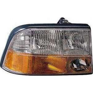 98 04 GMC SONOMA PICKUP HEADLIGHT RH (PASSENGER SIDE) TRUCK, With Fog