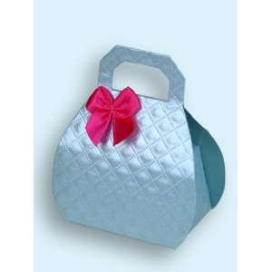Satin Blue Mini Purse Favor Boxes