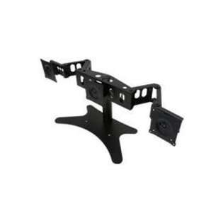 Chief Mfg. Flat Panel Triple Monitor Horizontal Table Stand   Black.