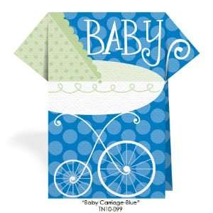 Blue Baby Carriage Decorative Napkins