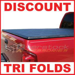 Silverado/GMC Sierra 6.5ft S/B TRI FOLD Tonneau Bed Cover Black