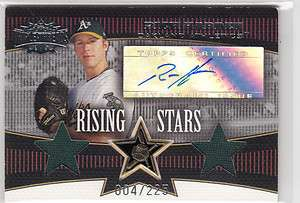Rich Harden 2006 Topps Triple Threads Dual Jersey Rookie Auto Card
