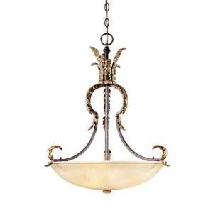 Parisian Collection Hanging Globed Light Fixture In French
