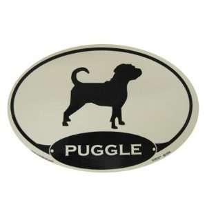 Euro Style Oval Dog Decal Puggle  Pet Supplies