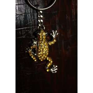 Yellow Jewel Frog Key Chain