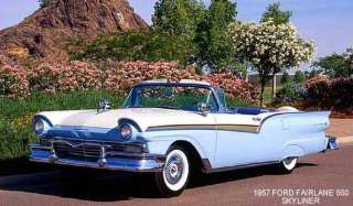 1957 FORD FAIRLANE ~ SKYLINER (BLUE/WHITE) ~ MAGNET
