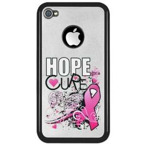 Clear Case Black Cancer Hope for a Cure   Pink Ribbon