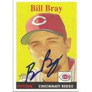 Bill Bray Signed Cincinnati Reds 07 Topps Heritage Card