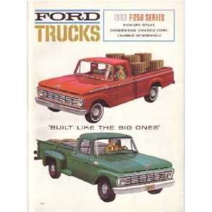 1963 FORD F250 TRUCK Sales Brochure Literature Book