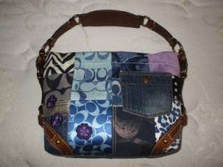 Carly Signature Multi Patchwork Suede Leather Tote Bag Purse