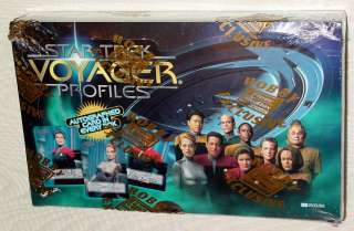 STAR TREK VOYAGER PROFILES TRADING CARDS SEALED BOX
