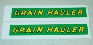 Tonka Grain Hauler Semi Trailer Decal Set TK 020
