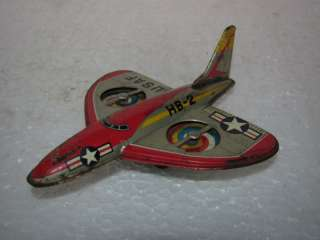 Vintage Friction US Air Force Plane Tin Toy   Japan