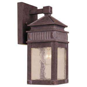 Hampton Bay Wall Mount Outdoor Rust Lantern  DISCONTINUED HD168835 at