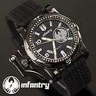 INFANTRY Digital LCD Chronograph Sport Mens Wrist Watch Black Green