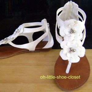 White Gladiator Baby Toddler Girl Walking Beach Sandal Shoes Size 9