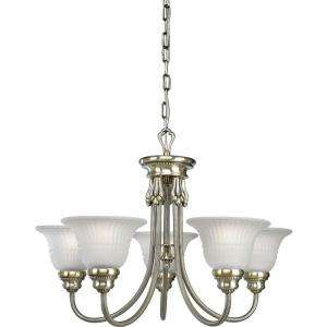 Progress Lighting Huntington Collection Colonial Silver 5 light
