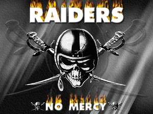 OAKLAND RAIDERS nfl football no mercy small to 5x glossy t shirt