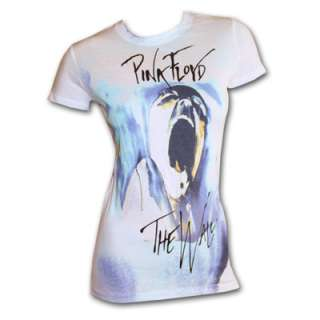 Pink Floyd The Wall Thin Ice White Ladies Slim Graphic T Shirt