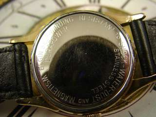 STUNNING BLACK DL ELGIN SELFWIND MENS WATCH GILT & GOLD NMBRS FANCY