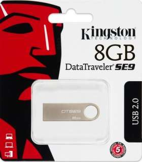 Kingston 8GB Data Traveler Champagne SE9 USB Pen Memory Flash Drive