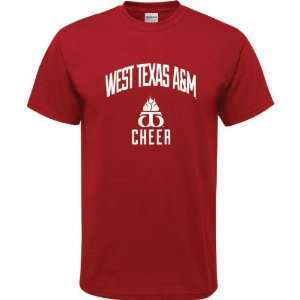 West Texas A&M Buffaloes Cardinal Red Youth Cheer Arch T