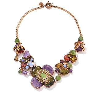 IMAN Global Chic Holiday Glam Multicolor Floral Necklace