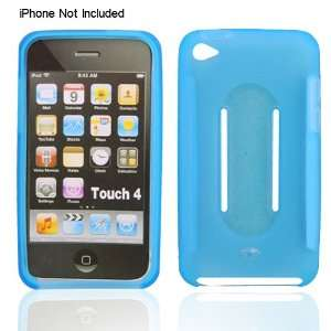Light Blue Silicon Skin Case for iPod Touch 4g 4th Generation