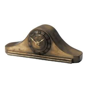 Haven N91485WTCB 4 by 10 1/4 by 3 Inch Bronze Art Deco Mantle Clock