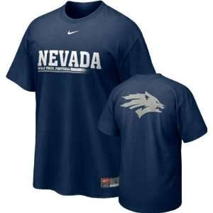 Nevada Wolf Pack Nike Navy Official 2010 Football Practice Tee