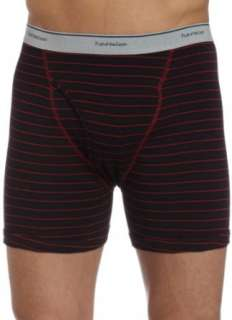 of the Loom Mens 4 Pack Stripe/Solid Assorted Boxer Briefs Clothing