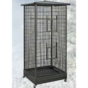 Biscayne Wrought Iron Indoor Aviary for Small Birds by HQ