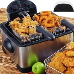 Deep Fryer, with Timer Free Extra Oil Filter