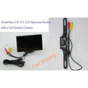 3.5 TFT LCD Car Monitor Color Camera Rearview DVD VCR