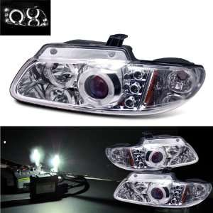 HID Kit 96 00 Dodge Caravan Halo LED Projector Headlights Automotive